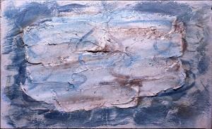 Image courtesy Galerie Melki, FAUTRIER, Jean. Frozen Lakes. 1955. Oil on canvas. 60.5 x 38 cm.