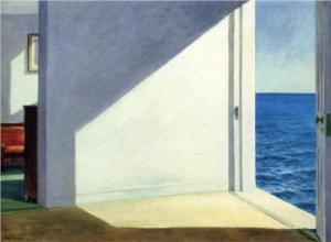 "Image from wikipaintings, ""Rooms by the Sea"", 1951, Edward Hopper, private collection"