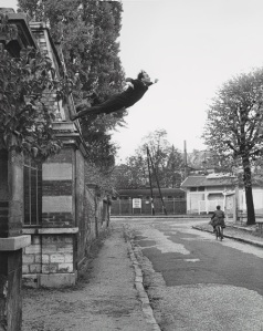 "Image courtesy the Metropolitan Museum, ""Leap into the Void"", 1960 Yves Klein (French, 1928–1962), photographed by Harry Shunk (German, 1924–2006) and Janos Kender (Hungarian, 1937–1983)"