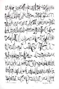 Image courtesy of the artist León Ferrari and Sicardi Gallery, Carta a un general (Letter to a general), 1963, ink on paper, 45 x 30 cm
