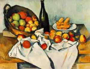 Paul Cézanne, Still Life with Basket of Apples (1890-94), image courtesy The Art Institute of Chicago