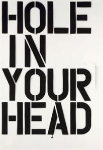"Christopher Wool, ""Hole in Your Head"", courtesy the artist and the web"