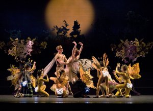 "Image courtesy Blaine Truitt Covert, Oregon Ballet Theatre's production of Christopher Stowell's ""A Midsummer Night's Dream"""