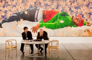 "Image courtesy of artist Andy Freeberg, ""Sean Kelly, Art Basel Miami, Artist: Kehinde Wiley, 2010'', from the Art Fare series"