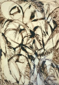 "Lee Krasner, ""Assault on the Solar Plexus, oil on canvas. Courtesy of the artist and Robert Miller Gallery."
