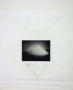 "Patti Smith, ""Untitled"", inke jet print, graphite and masking tape, with unique poetry. Courtesy the artist and Robert Miller Gallery."