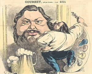 """Courbet, painted by Himself"", Cover of La  Lune, June 9, 1867 Artist as self promoter, celebrity, bon vivant"