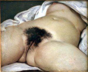 """Gustave Courbet, """"L'Origine du monde, 1866  Musée d'Orsay, Paris"""