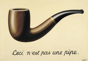 """The Treachery of Images"", by René Magritte,"