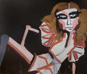 Katherine Bernhardt Lizard Woman 2006. Acrylic on canvas