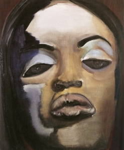"""Naomi"", Marlene Dumas, oil on canvas"