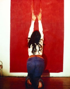 Image: Ana Mendieta, Untitled (Body Tracks), 1974, Lifetime color photograph. ©Estate of Ana Mendieta Collection, Courtesy Galerie Lelong, New York.